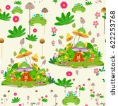 seamless pattern with animals... | Shutterstock .eps vector #622253768