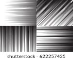 four backgrounds of speed lines ... | Shutterstock .eps vector #622257425