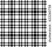 black and white tartan seamless ...   Shutterstock .eps vector #622260758