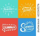 retro hand drawn elements for... | Shutterstock .eps vector #622265276