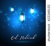 vector illustration of eid... | Shutterstock .eps vector #622268132