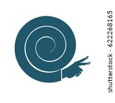 snail vector icon. hands in the ... | Shutterstock .eps vector #622268165