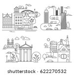 city landscapes line vector... | Shutterstock .eps vector #622270532