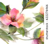 floral pattern. watercolor... | Shutterstock . vector #622276466