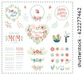 mother's day set with... | Shutterstock .eps vector #622277462