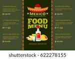 mexican cuisine food restaurant ... | Shutterstock .eps vector #622278155