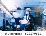 a young successful engineer... | Shutterstock . vector #622279592