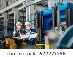 a young successful engineer... | Shutterstock . vector #622279598