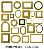 collection of golden vintage... | Shutterstock .eps vector #62227966