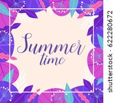 summertime. colorful card with... | Shutterstock .eps vector #622280672