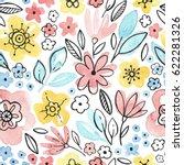 watercolor seamless pattern... | Shutterstock . vector #622281326