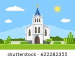 church icon. vector... | Shutterstock .eps vector #622282355