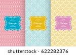 retro pastel seamless pattern... | Shutterstock .eps vector #622282376