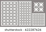 set decorative panels laser cut.... | Shutterstock .eps vector #622287626