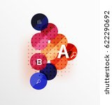colorful glossy circle... | Shutterstock .eps vector #622290692
