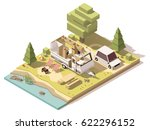 vector isometric low poly... | Shutterstock .eps vector #622296152