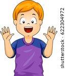 illustration of a little boy... | Shutterstock .eps vector #622304972