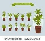 green plants in pots   vector... | Shutterstock .eps vector #622306415