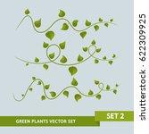 green plant vines   set 2 of 3 | Shutterstock .eps vector #622309925