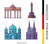 sights of germany  icons  icons ... | Shutterstock .eps vector #622310666
