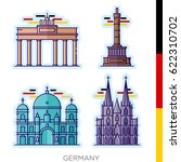 sights of germany  icons  icons ... | Shutterstock .eps vector #622310702