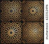 set of islamic oriental... | Shutterstock .eps vector #622312496
