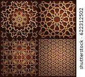 set of islamic oriental... | Shutterstock .eps vector #622312502