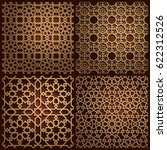 set of islamic oriental... | Shutterstock .eps vector #622312526