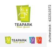 tea park  cafe  vector logo... | Shutterstock .eps vector #622313372