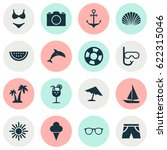 hot icons set. collection of... | Shutterstock .eps vector #622315046