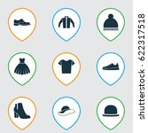 clothes icons set. collection... | Shutterstock .eps vector #622317518