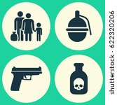 warfare icons set. collection... | Shutterstock .eps vector #622320206