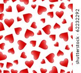 red heart seamless pattern over ... | Shutterstock . vector #62232292