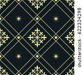 vintage pattern with stars | Shutterstock .eps vector #622324298