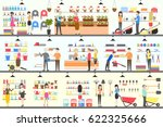 home and garden store interior... | Shutterstock .eps vector #622325666