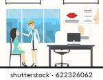otolaryngologist in hospital.... | Shutterstock .eps vector #622326062