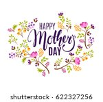 happy mother's day floral... | Shutterstock .eps vector #622327256