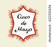 cinco de mayo lettering and... | Shutterstock .eps vector #622332656