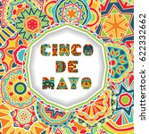 cinco de mayo card with... | Shutterstock .eps vector #622332662