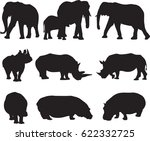 african three types shape of...   Shutterstock .eps vector #622332725
