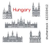 hungary architecture and... | Shutterstock .eps vector #622333412