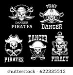 jolly roger pirate vector icons ... | Shutterstock .eps vector #622335512