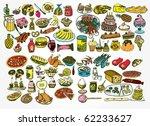 delicious food vector collection | Shutterstock .eps vector #62233627