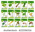 herbs and spices vector price... | Shutterstock .eps vector #622336316
