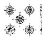compass or wind rose marine...   Shutterstock .eps vector #622336328