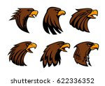 eagle or hawk vector mascot for ... | Shutterstock .eps vector #622336352