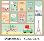 travel collection for banners... | Shutterstock .eps vector #622339376