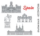 spain architecture and spanish... | Shutterstock .eps vector #622341566