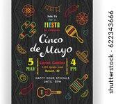 cinco de mayo poster template.... | Shutterstock .eps vector #622343666