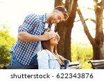 boyfriend surprises her... | Shutterstock . vector #622343876